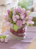 Fragrance bouquet of Hyacinthus (hyacinth) and Tulipa (tulip)
