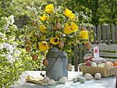 Bouquet with Spiraea, Ribes aureum