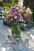 Fragrant early summer bouquet with Rose, dianthus