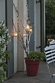 Romantische Sommer-Abendterrasse