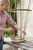 Make yourself wicker basket for climbing plants