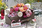 Gifts basket with rose products
