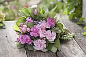 Bouquet with dianthus, Rose, sage