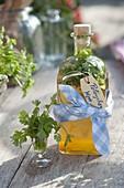 Prepare self made parsley wine according to Hildegard von Bingen