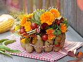 Thanksgiving Bouquet with vegetables in potato dress (2/4)