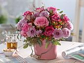 Pink (Rose), Chrysanthemum (Autumn chrysanthemum), Hypericum