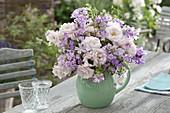 Fragrant bouquet of Rose, Phlox maculata, Malva