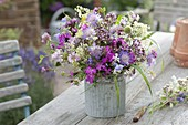 Meadow bouquet with Dianthus carthusianorum, Scabiosa