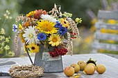 Small Thanksgiving Bouquet with Helianthus, Calendula