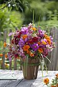 Summer bouquet, Cosmos (daisies), Calendula