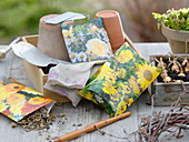 Make paper bags for seeds yourself
