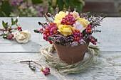 Small bouquet of Rose, Calluna