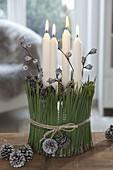 Unusual Advent arrangement in empty can