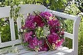 Paeonia wreath, camomile