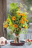 Bouquet of Swiss Mangold, Fennel, Calendula