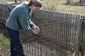 Building composting from structural steel mesh