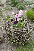 Beaded nest of willow