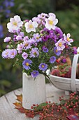 Autumn aster and anemone bouquet