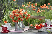Meadow bouquet with Papaver rhoeas, Anthriscus