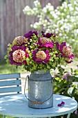 Paeonia lactiflora 'Tom Eckardt' (precious peony) bouquet