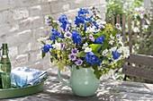 Fragrance bouquet made from Delphinium, Philadelphus