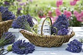 Gift basket with lavender and lavender sugar