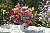 Autumn bouquet 'Across the Garden' Aster, Physalis