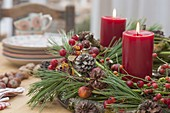 Rural Advent wreath of natural materials