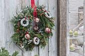 Wild wreath made of Abies, Cryptomeria, Pinus