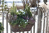 Basket box at the garden fence