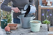 Mix soil for sowing or permeable soil