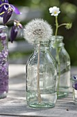 Unusual lilac table decoration