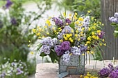 Fragrant bouquet from Syringa, Ranunculus acris
