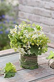 Tea Herb bouquet in leaves Vase