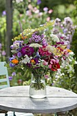 Colorful summer bouquet from the farmer garden