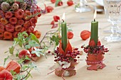 Autumn physalis table decoration