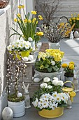 Easter in yellow-white on the terrace