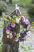 Spring Wreath made of Malus (Apple) branches