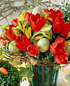 Tulips, Euonymus