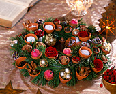 Clay pots wreath, Advent wreath