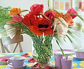 Papaver orientalis (poppy), barley