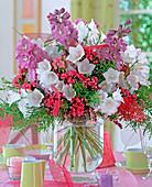 Delphinium (larkspur), Campanula persicifolia (bellflower)