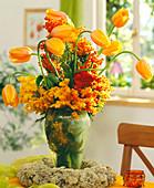 Strauß aus Französischen Tulpen (orange)