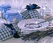 Lavender sugar - put lavender flowers in sugar, lavender scented sachets