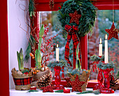 Christmas decoration at the window