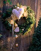 Branches and hearts door wreath
