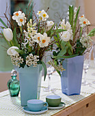 Narcissus 'Geranium' (Daffodil), Tulipa 'Inzell'