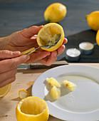Lemons as tealight holders