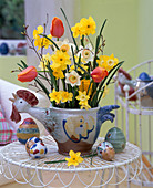 Narcissus, tulipa, betula (birch)