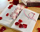 Bookmark with pressed petals